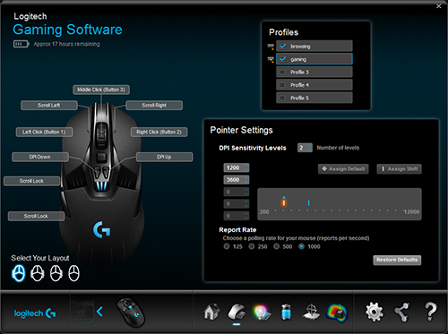logitech mouse settings